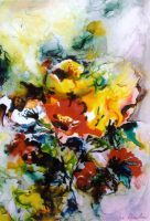 Floral on Yupo Paper